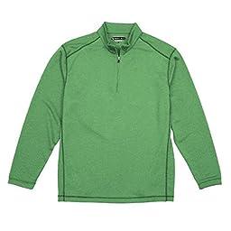 Pebble Beach Men\'s Performance 1/4 Zip Pullover (X-Large, Green)