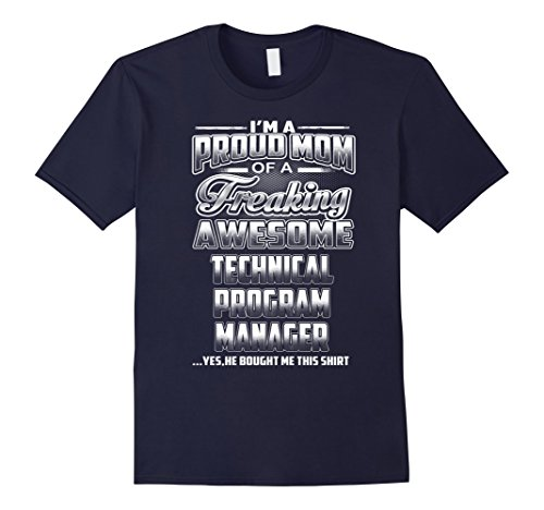 Men's Technical Program Manager Mom T-shirt Small Navy (Mom Program compare prices)