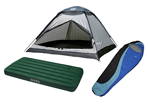 Tahoe Gear Willow Dome Tent w/ Sleeping Bag & Air Mattress Camping Starter Pack (Island Peak Sleeping Bag compare prices)