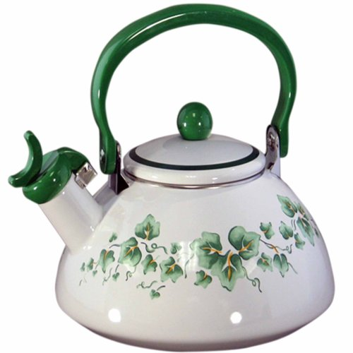 Corelle Coordinates Callaway 2-1/5-Quart Whistling Teakettle (Green Floral Tea Kettle compare prices)