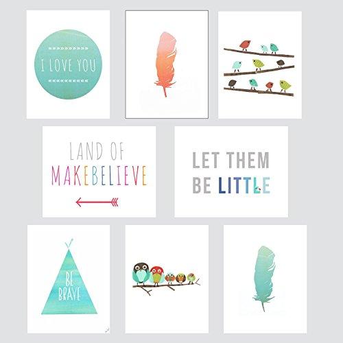 Boho-Mini-Collection-5x7-Wall-Card-Prints-Nursery-Wall-Art-Decor-Kids-Art-Decor-Gender-Neutral-Nursery-Nature-Themed
