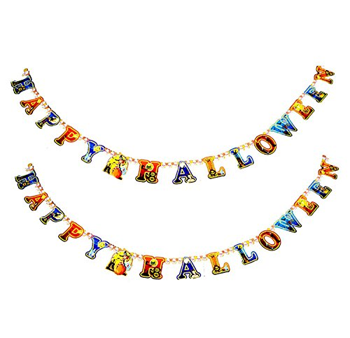Keral Happy Halloween Props Jumbo Garland Banner Decorative Props