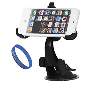 Worldshopping iphone 5 Car Mount Holder Adjustable Windshield Air Suction and Free Accessory, Gifts From Worldshopping from Worldshopping