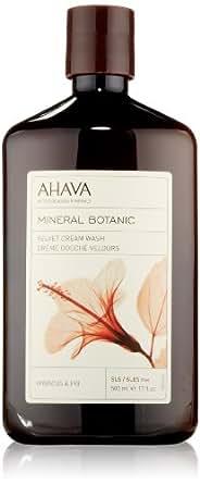 AHAVA Mineral Botanic Velvet Cream Wash, Hibiscus & Fig, 17 fl. oz.