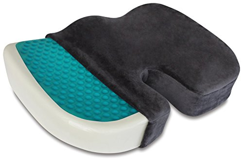 TravelMate Coccyx Orthopedic Gel-enhanced (Medium-Firm) Comfort Foam Seat Cushion (Gray)