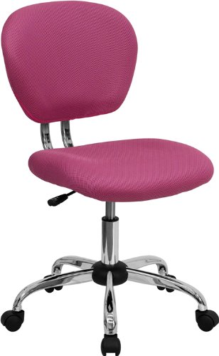 Flash Furniture H-2376-F-PINK-GG Mid-Back Pink