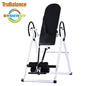 TruBalance Synergy NL Pro Deluxe Inversion Table - Glacier White