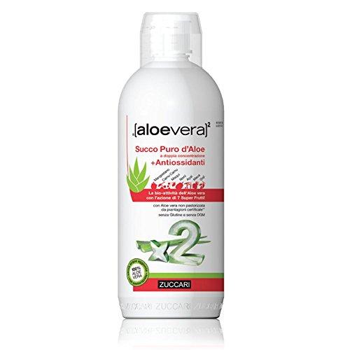 Zuccari Aloe Vera2 Succo Puro di Aloe e Antiossidanti - 1000 ml