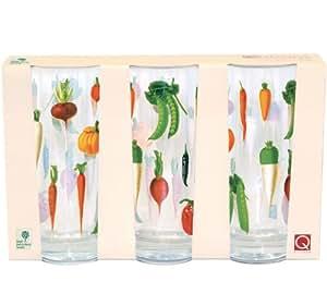 Churchill China Royal Horticultural Society Verre haut Design Benary Set de 3 Designs assortis
