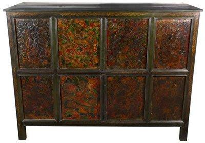 "Beautiful Oriental Accessories - 45"" Dragon Design Tibetan Prayer Chest"