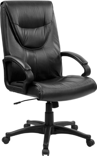 Flash Furniture Bt-238-Bk-Gg High Back Black Leather Executive Swivel Office Chair front-10825