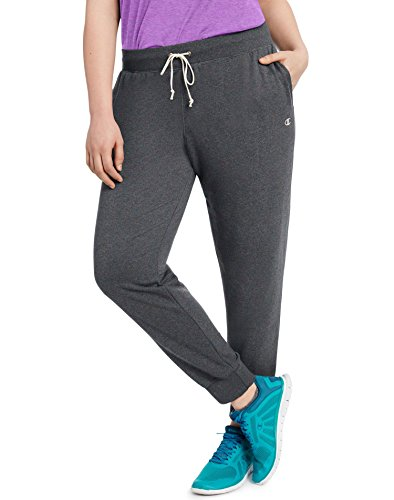 Champion Women's Plus Size French Terry Jogger, Granite Heather, 3X