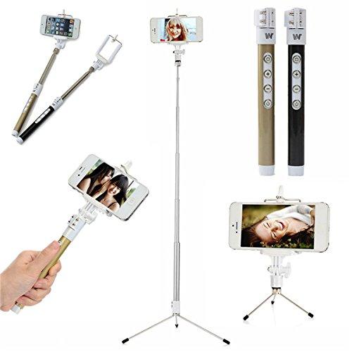 Dispho Bluetooth Remote Monopod Tripod Selfie Stick For iPhone Samsung Smart Phone (Selfie Samsung Galaxy S4 Mini compare prices)