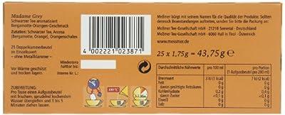 Messmer Madame Grey, Schwarzer Tee 25 Beutel, 12er Pack (12 x 44 g) von Messmer auf Gewürze Shop