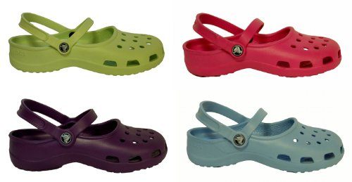 Crocs Mary Jane Womens Ladies Girls Kids Toddlers Sandals Clogs Slingback