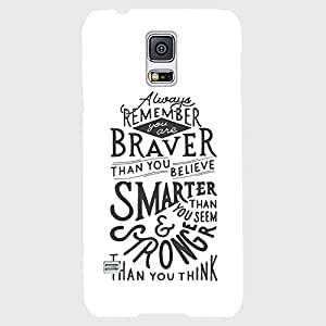 Back cover for Samsung Galaxy S5 Braver, Smarter, Stronger