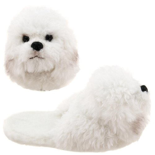 Image of Bichon Frise Animal Slippers for Women (B0037TQ0BE)