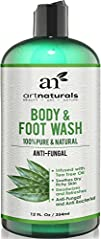 Artnaturals Antifungal Soap with Tea Tree Oil – 100% Natural Best Foot and Body Wash 12 Oz, Helps…