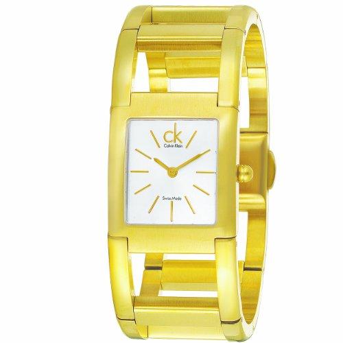 CK Calvin Klein Women's K5912220 Rectangular Watch