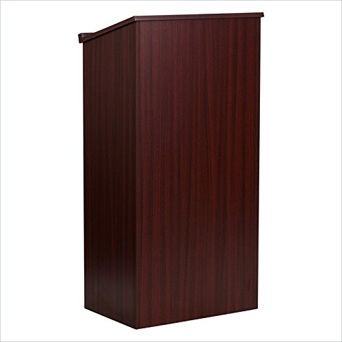 Flash Furniture Mahogany Height Adjsutable Wooden Stand-Up Presentation Book Holder Lectern