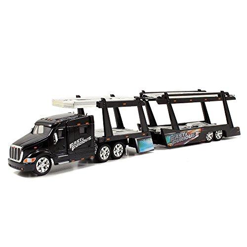 Jada Toys Fast & Furious 1:64 Diecast Hauler  Peterbilt 387 Car Carrier  G, Black (Die Cast Promotions Trucks compare prices)
