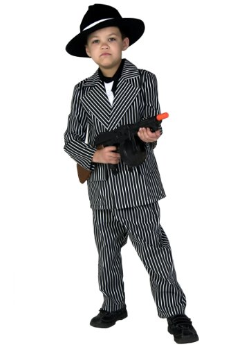 Big Boys' Deluxe Gangster Costume