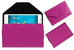 Acm Premium Flip Flap Pouch Case For Micromax Unite 4 Mobile Leather Cover Magnetic Closure Pink