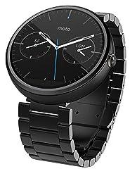 Motorola Moto 360 - Dark Metal, 23mm, Smart Watch