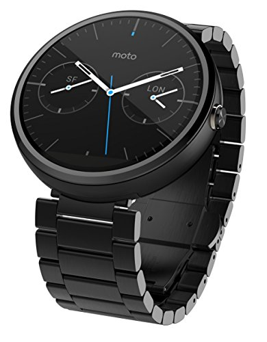 Motorola Moto 360 – Dark Metal, 23mm, Smart Watch