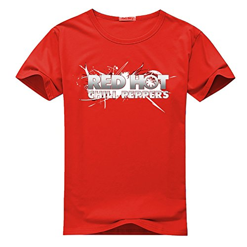 Red Hot Chili Peppers Printed For Men's T-shirt Tee (Red Hot Chili Peppers Crewneck compare prices)