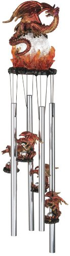 Wind Chime Round Top Dragon Hanging Garden Porch Decoration Décor