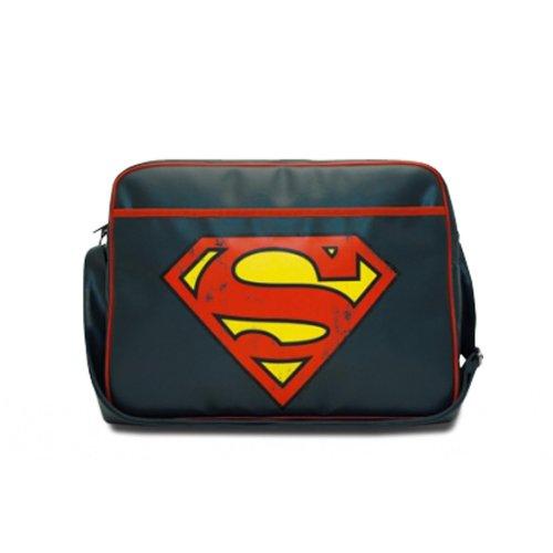 Borsa tracolla Superman - Logo - Blu