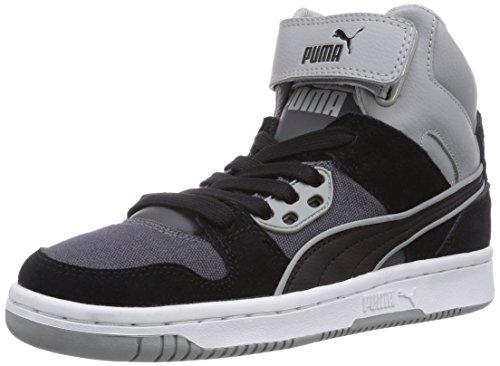 Puma Puma Rebound Street CV, Low-Top Sneaker unisex adulto, Nero (Schwarz (black-black-limestone gray 01)), 43