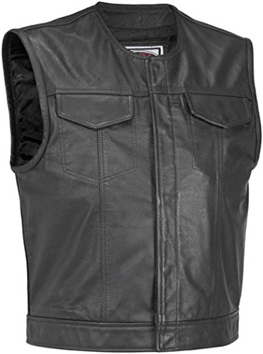 River Road Mens Vandal Classic Leather Vest - 2X-Large