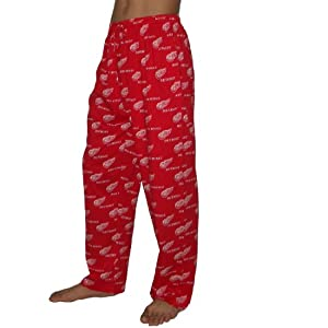NHL Detroit Red Wings Mens Cotton Sleepwear / Pajama Pants XXL Red