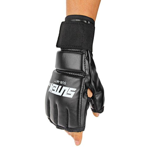 Binmer(TM) Cool MMA Muay Thai Training Punching Bag Half Mitts Sparring Boxing Gloves Gym