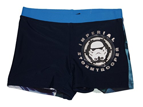 Official Licensed Bambini Star Wars Swim Short / Costume / Swim Trunk (Stormtrooper , 6 Anni)