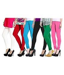 PI World Women Cotton Lycra Leggings