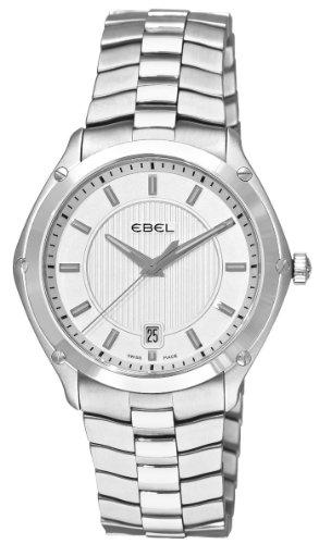 Ebel - Reloj de hombre de cuarzo con correa de acero (cristal zafiro)