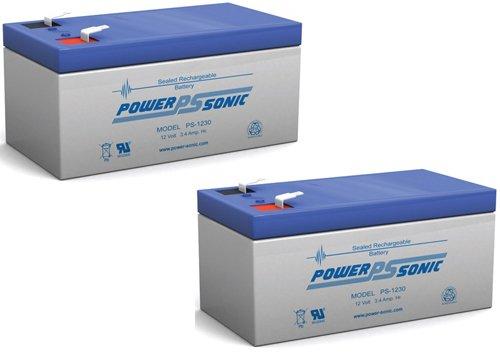 Battery For Wp3-12 Backup 12 Volt 3.4Ah - 2 Pack