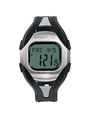 Sportline Mens Solo 960 Any Touch Step Distance Pedometer Heart Rate Monitor Watch by Sportline