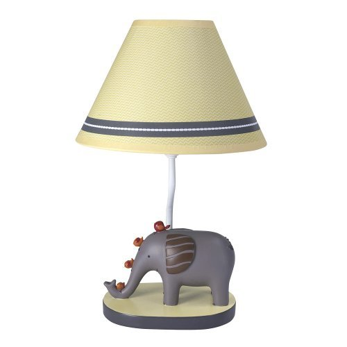Lambs & Ivy Lamp with Shade and Bulb, Butterscotch