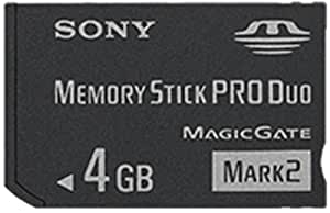Sony MSMT4G 4GB Memory Stick PRO Duo (Mark2) Media