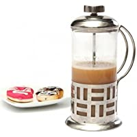 Stainless Steel French Coffee Pot Pyrex Glass Filter Pressure Pot 350ml