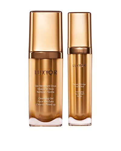 Luxyor Set, 2-tlg. Cleansing Gel Face and Eyes Cleans - Tones up, Anti-Aging Day & Night Serum