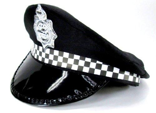 憧れの警察官に?! 英国風警察 警官帽子 コスプレ用 ポリスハット