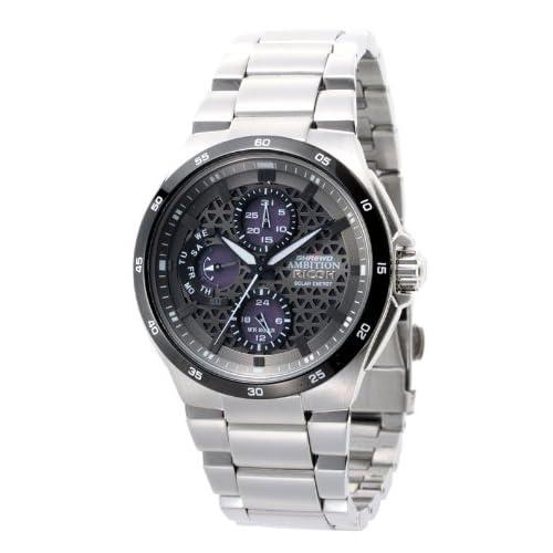 [リコー]RICOH 腕時計 SHREWD AMBITION(シュルード・アンビション) ソーラー充電式 アナログ表示 曜日・日付表示 マンリー・シルバー 759002-02 メンズ