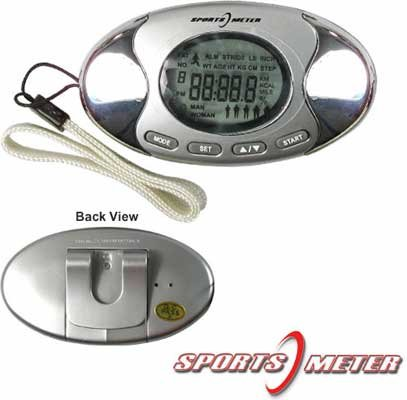 Cheap Sports & Outdoors 2-in-1 Digital Pedometer with Fat Analyzer (Silver) (B0086GGCB6)