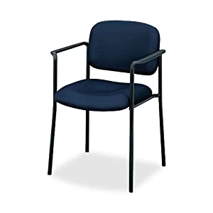 basyx by HON VL616 Guest Chair with Arms, Navy