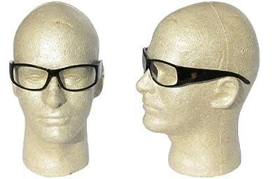 Jackson 3016312 Smith & Wesson Elite Safety Glasses Black Frame Clear Lens Anti Fog